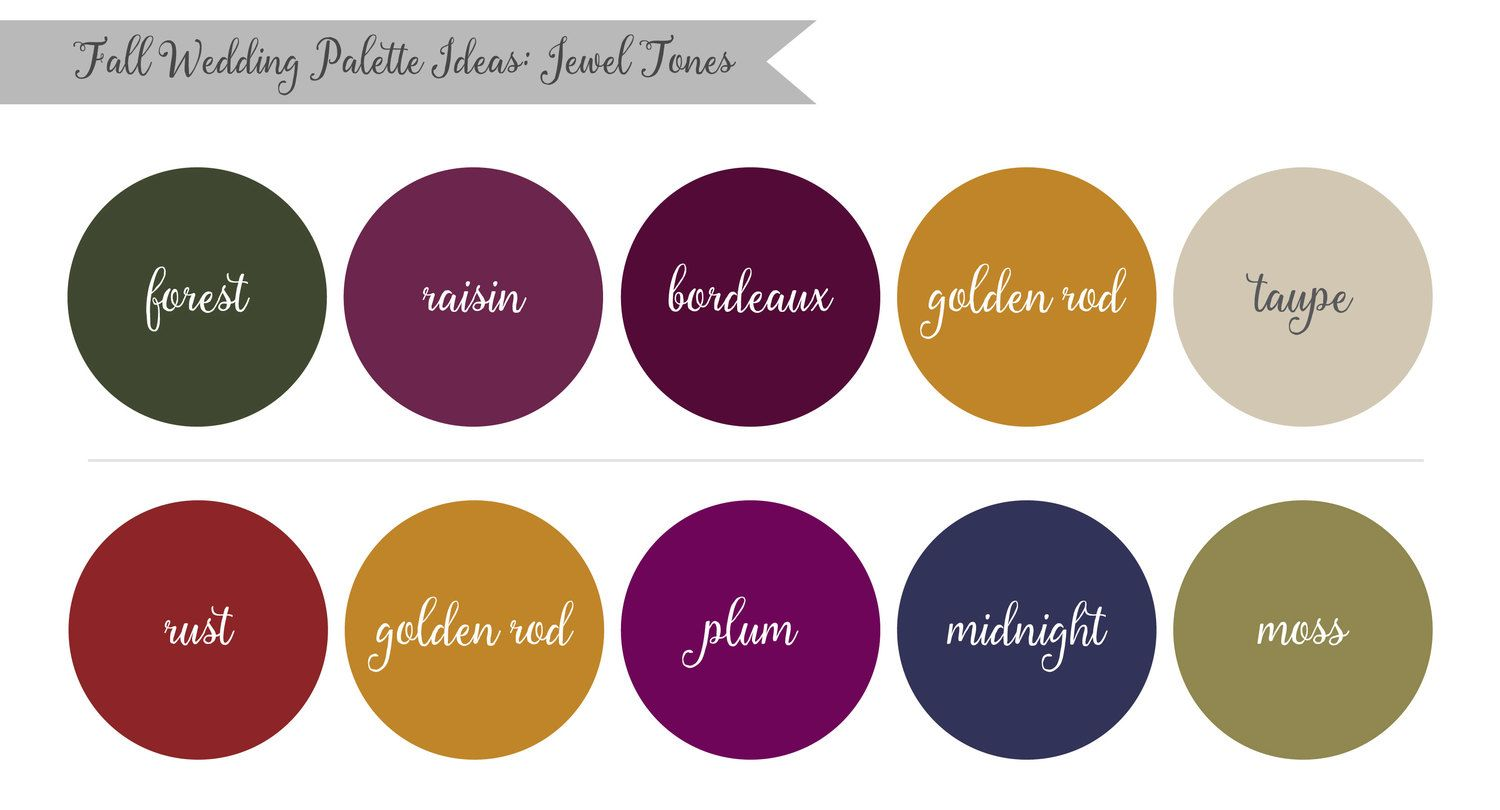 Color palette for fall wedding in Northern NJ Morris County