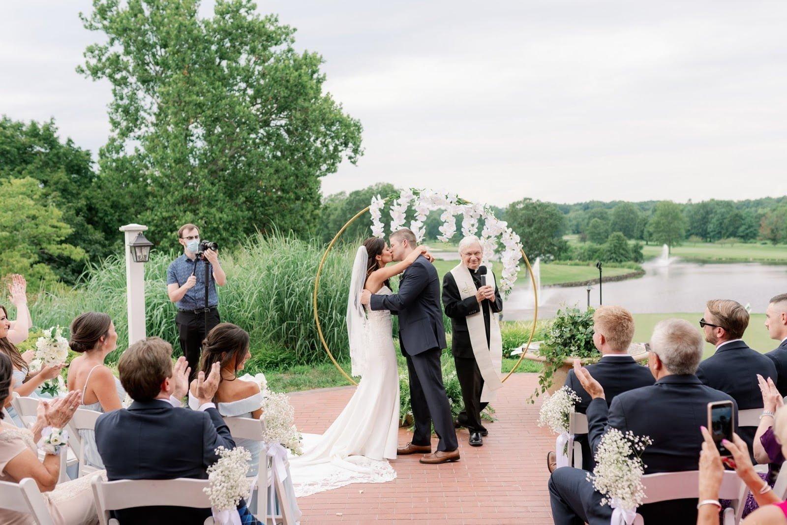 Brooklake outdoor wedding ceremony in Northern NJ, Morris County