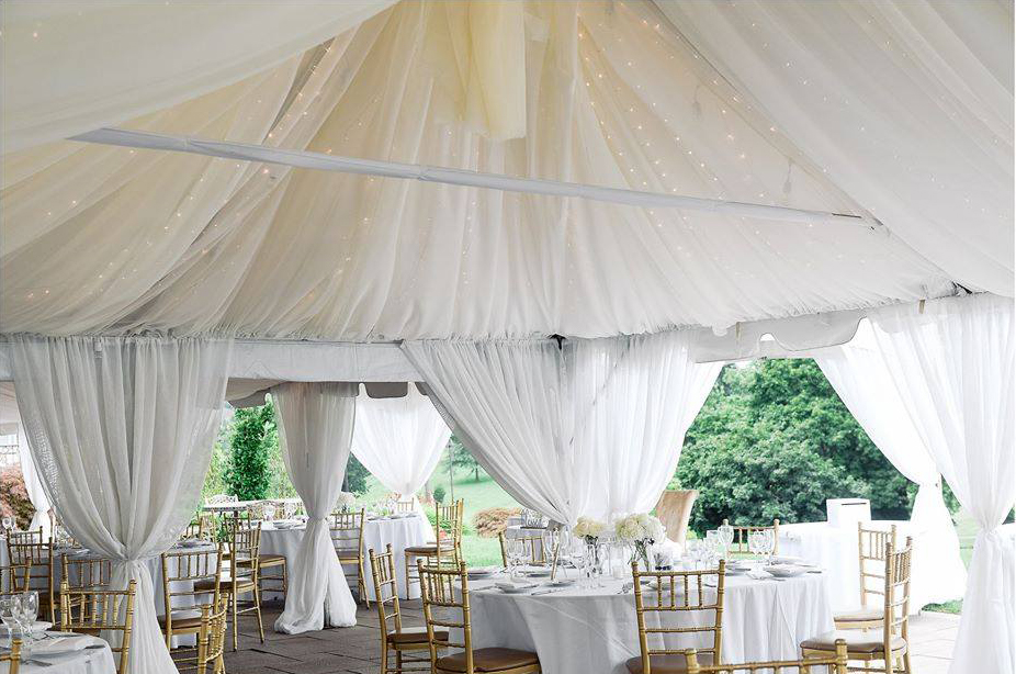 Outdoor wedding reception Morris County, Northern New Jersey at Brooklake